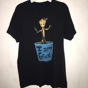 Tops - guardians of the galaxy I am Groot shirt